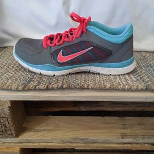 Neon Pink and Blue Nike Sneakers